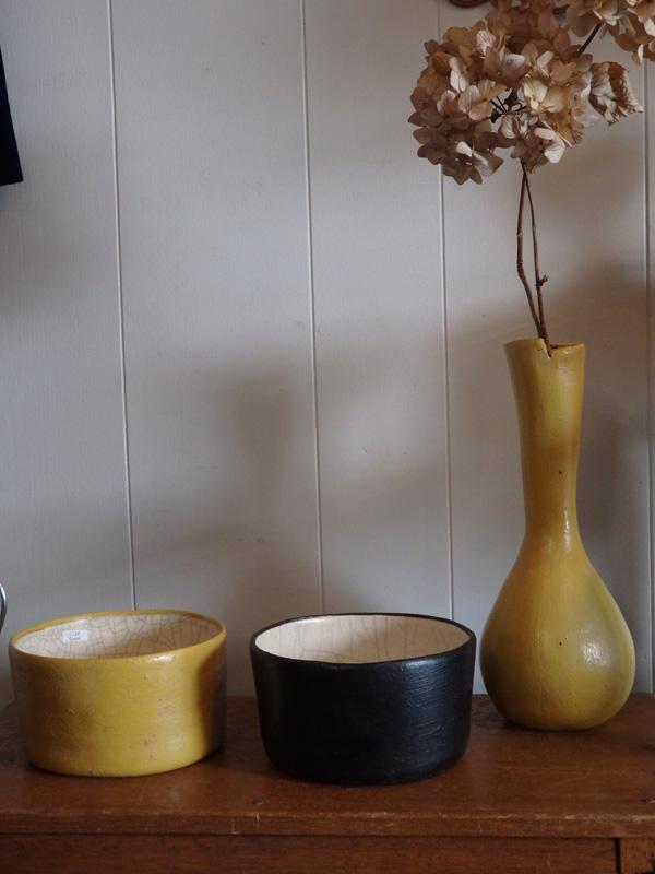 花瓶と丸鉢